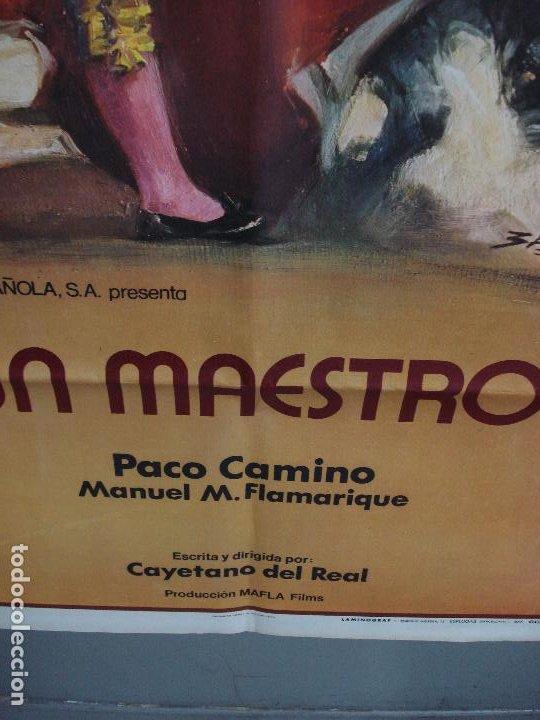 Cine: CDO 484 UN MAESTRO PACO CAMINO TOROS BALLESTER POSTER ORIGINAL 54X97 ESTRENO - Foto 7 - 195325692