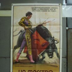 Cine: CDO 484 UN MAESTRO PACO CAMINO TOROS BALLESTER POSTER ORIGINAL 54X97 ESTRENO. Lote 195325692