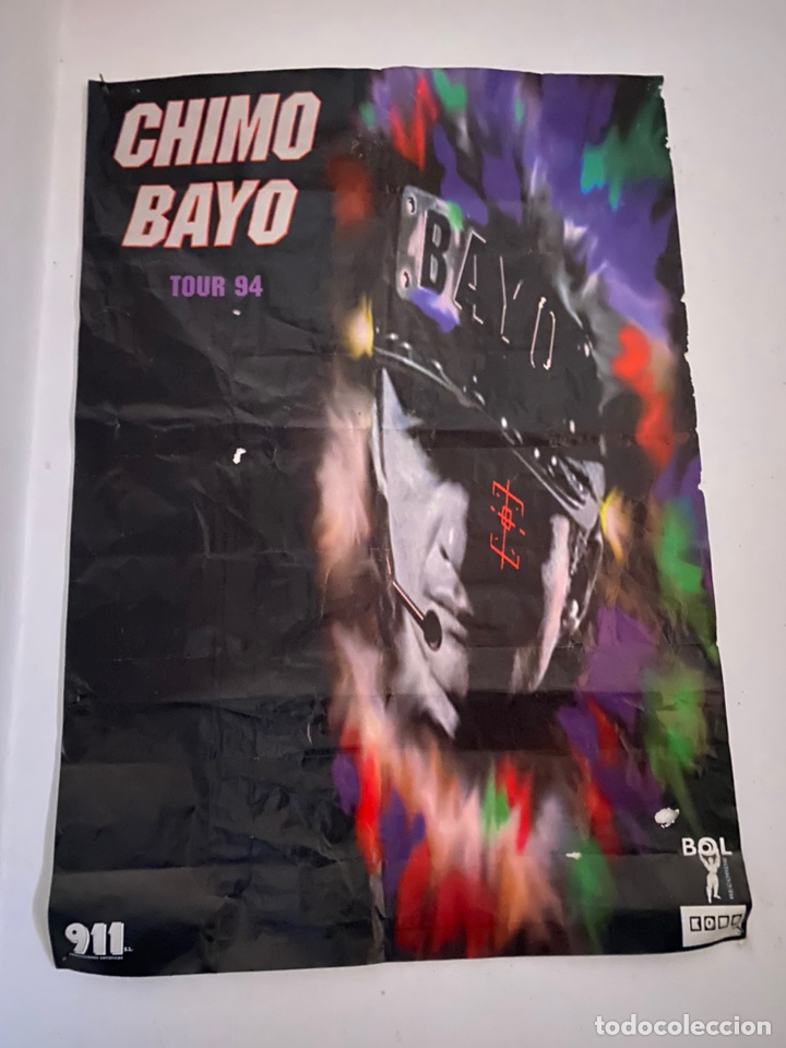 PÓSTER ANTIGUO CHIMO BAYO 1994 (Cine - Posters y Carteles - Musicales)