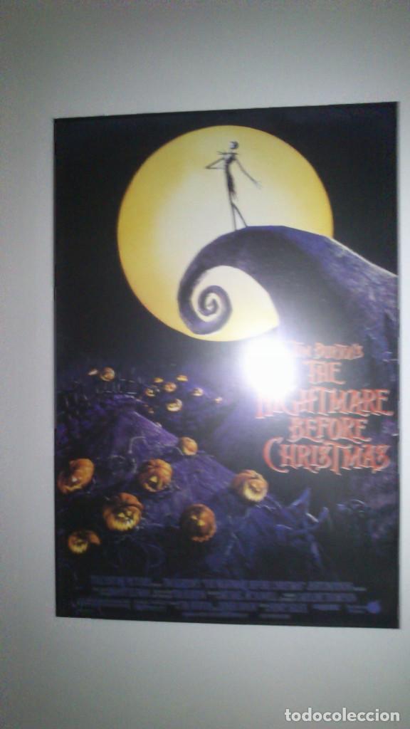POSTER DE PESADILLA ANTES DE NAVIDAD (DE TIM BURTON) ENMARCADO - EN MUY BUEN ESTADO (Cine - Posters y Carteles - Aventura)