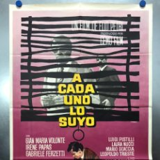 Cine: A CADA UNO LO SUYO - GIAN MARIA VOLONTE, IRENE PAPAS - AÑO 1968. Lote 195375218