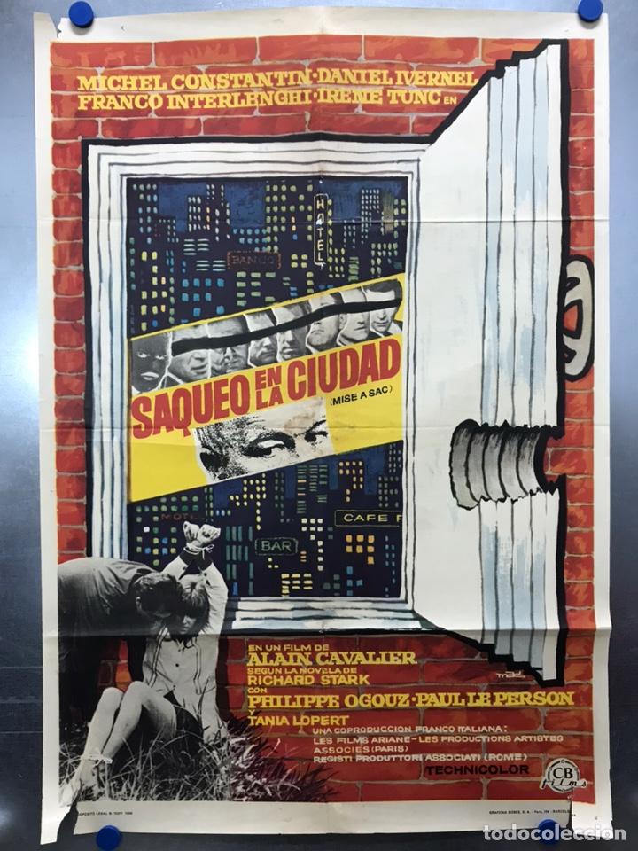 SAQUEO EN LA CIUDAD - MICHEL CONSTANTIN - AÑO 1969 (Cine- Posters y Carteles - Drama)