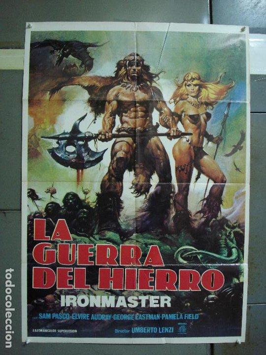 CDO 485 LA GUERRA DEL HIERRO UMBERTO LENZI CASARO POSTER ORIGINAL ESTRENO 70X100 (Cine - Posters y Carteles - Ciencia Ficción)