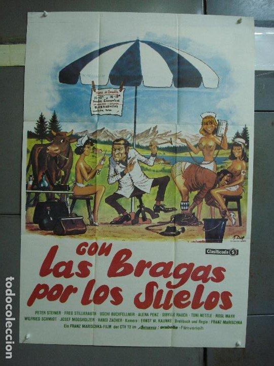CDO 486 CON LAS BRAGAS POR LOS SUELOS FRANZ MARISCHKA POSTER ORIGINAL ESTRENO 70X100 (Cine - Posters y Carteles - Comedia)