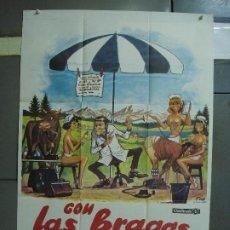 Cine: CDO 486 CON LAS BRAGAS POR LOS SUELOS FRANZ MARISCHKA POSTER ORIGINAL ESTRENO 70X100. Lote 195379311