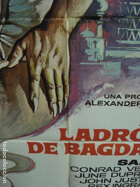Cine: CDO 490 EL LADRON DE BAGDAD SABU MICHAEL POWELL MAC POSTER ORIGINAL 70X100 ESPAÑOL R-78 - Foto 5 - 195397716