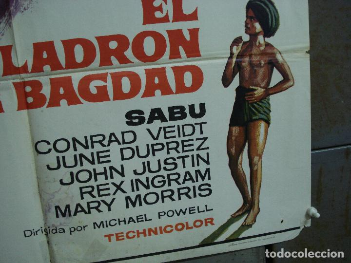 Cine: CDO 490 EL LADRON DE BAGDAD SABU MICHAEL POWELL MAC POSTER ORIGINAL 70X100 ESPAÑOL R-78 - Foto 6 - 195397716