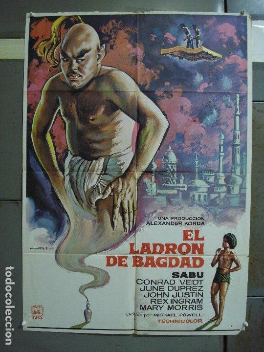 CDO 490 EL LADRON DE BAGDAD SABU MICHAEL POWELL MAC POSTER ORIGINAL 70X100 ESPAÑOL R-78 (Cine - Posters y Carteles - Aventura)