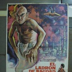 Cine: CDO 490 EL LADRON DE BAGDAD SABU MICHAEL POWELL MAC POSTER ORIGINAL 70X100 ESPAÑOL R-78. Lote 195397716