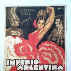 Cine: CARTEL ORIGINAL LITOGRAFICO CARMEN LA DE TRIANA - 1938 - IMPERIO ARGENTINA FLORIAN REY HISPANO FILM. Lote 195398548
