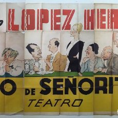 Cine: CARTEL ORIGINAL LITOGRAFICO DE 3 PLIEGOS - IRENE LOPEZ HEREDIA - ILUSTRADO POR FERNANDO FRESNO 1937. Lote 195400807