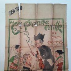 Cine: CARTEL ORIGINAL COMPAÑIA ALFREDO CAMIÑA - TEATRO EL PADRE PITILLO DIBUJANTE FERNANDO FRESNO 1937. Lote 195401743