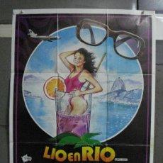 Cine: CDO 496 LIO EN RIO MICHAEL CAINE MICHELLE JOHNSON POSTER ORIG 70X100 ESTRENO. Lote 195406470