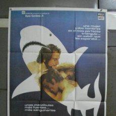 Cine: CDO 497 TINTORERA RENE CARDONA SUSAN GEORGE ANDRES GARCIA POSTER ORIGINAL 70X100 ESTRENO. Lote 195408385