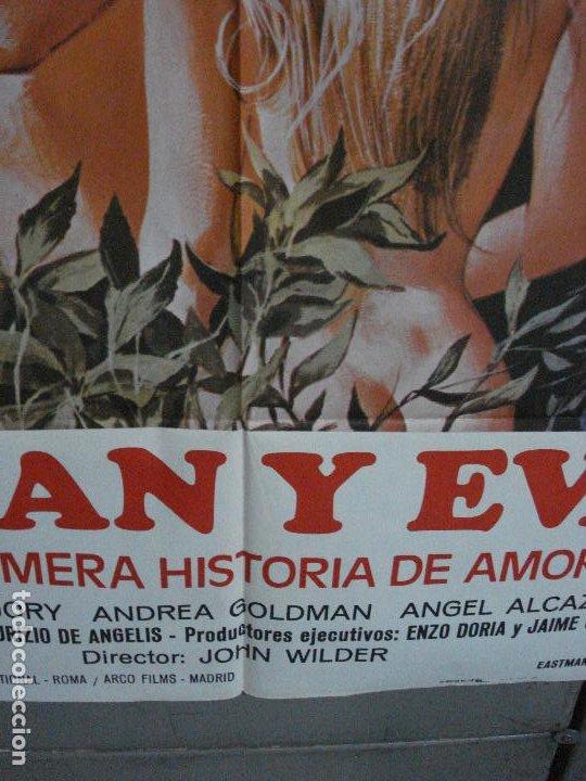 Cine: CDO 498 ADAN Y EVA MARK GREGORY ANDREA GOLDMAN POSTER ORIGINAL 70X100 ESTRENO - Foto 6 - 195408708