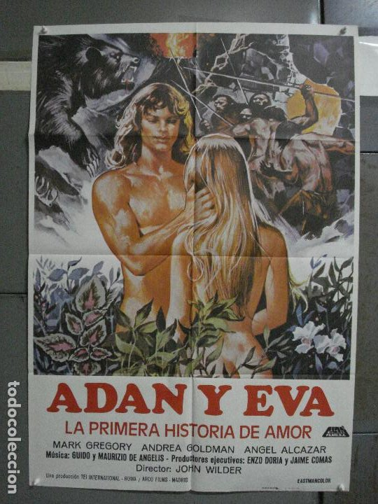 CDO 498 ADAN Y EVA MARK GREGORY ANDREA GOLDMAN POSTER ORIGINAL 70X100 ESTRENO (Cine- Posters y Carteles - Drama)