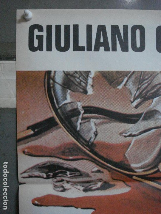 Cine: CDO 499 LA ADVERTENCIA GIULIANO GEMMA MARTIN BALSAM POSTER ORIGINAL 70X100 ESTRENO - Foto 2 - 195409111