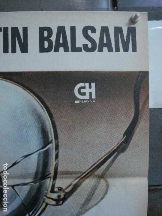 Cine: CDO 499 LA ADVERTENCIA GIULIANO GEMMA MARTIN BALSAM POSTER ORIGINAL 70X100 ESTRENO - Foto 3 - 195409111
