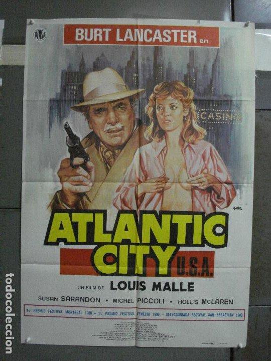 CDO 501 ATLANTIC CITY BURT LANCASTER SUSAN SARANDON LOUIS MALLE JANO POSTER ORIGINAL 70X100 ESTRENO (Cine- Posters y Carteles - Drama)