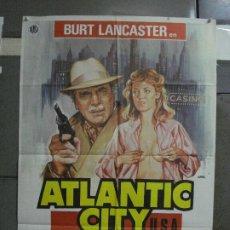 Cine: CDO 501 ATLANTIC CITY BURT LANCASTER SUSAN SARANDON LOUIS MALLE JANO POSTER ORIGINAL 70X100 ESTRENO. Lote 195409735