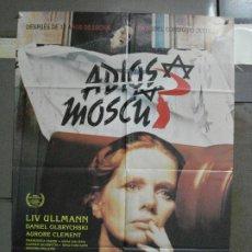Cine: CDO 502 ADIOS MOSCU LIV ULLMAN MAURO BOLOGNINI POSTER ORIGINAL 70X100 ESTRENO. Lote 195409993
