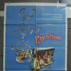 Cine: CDO 506 QUIEN ENGAÑO A ROGER RABBIT SPIELBERG ZEMECKIS WALT DISNEY POSTER ORIGINAL 70X100 ESTRENO. Lote 195412793