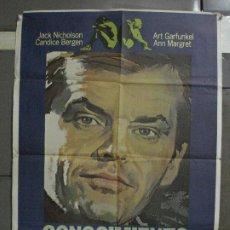 Cine: CDO 510 CONOCIMIENTO CARNAL JACK NICHOLSON ANN-MARGRET POSTER ORIGINAL 70X100 ESPAÑOL R-82. Lote 195415512