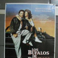 Cine: CDO 512 LOS BUFALOS DE DURHAM KEVIN COSTNER SUSAN SARANDON BEISBOL POSTER ORIGINAL 70X100 ESTRENO. Lote 195415948