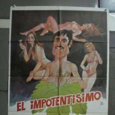 Cine: CDO 514 EL IMPOTENTISIMO LANDO BUZZANCA MONTALBAN POSTER ORIGINAL 70X100 ESTRENO. Lote 195416510
