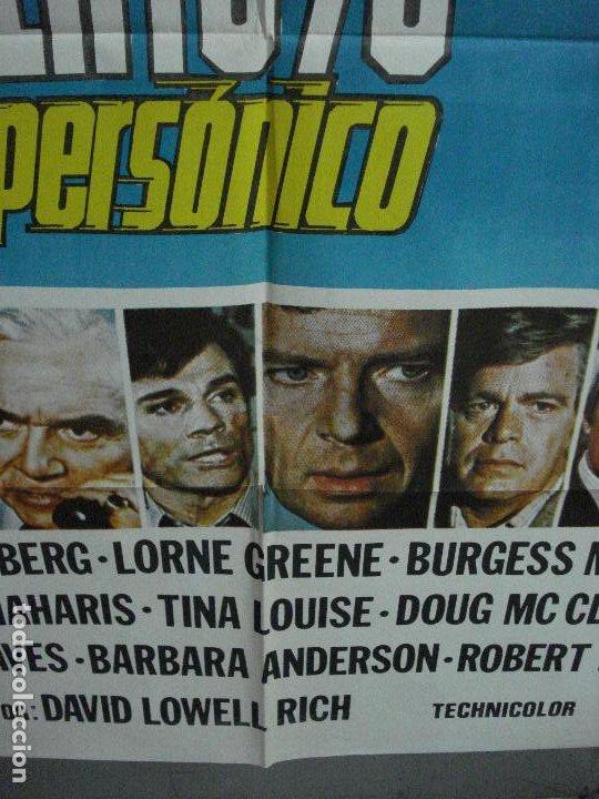 Cine: CDO 504 AEROPUERTO 78 VUELO SUPERSONICO SUSAN STRASBERG LORNE GREENE POSTER ORIGINAL 70X100 ESTRENO - Foto 5 - 195417406