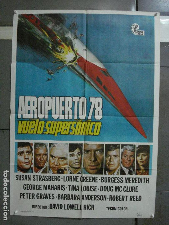 CDO 504 AEROPUERTO 78 VUELO SUPERSONICO SUSAN STRASBERG LORNE GREENE POSTER ORIGINAL 70X100 ESTRENO (Cine - Posters y Carteles - Suspense)