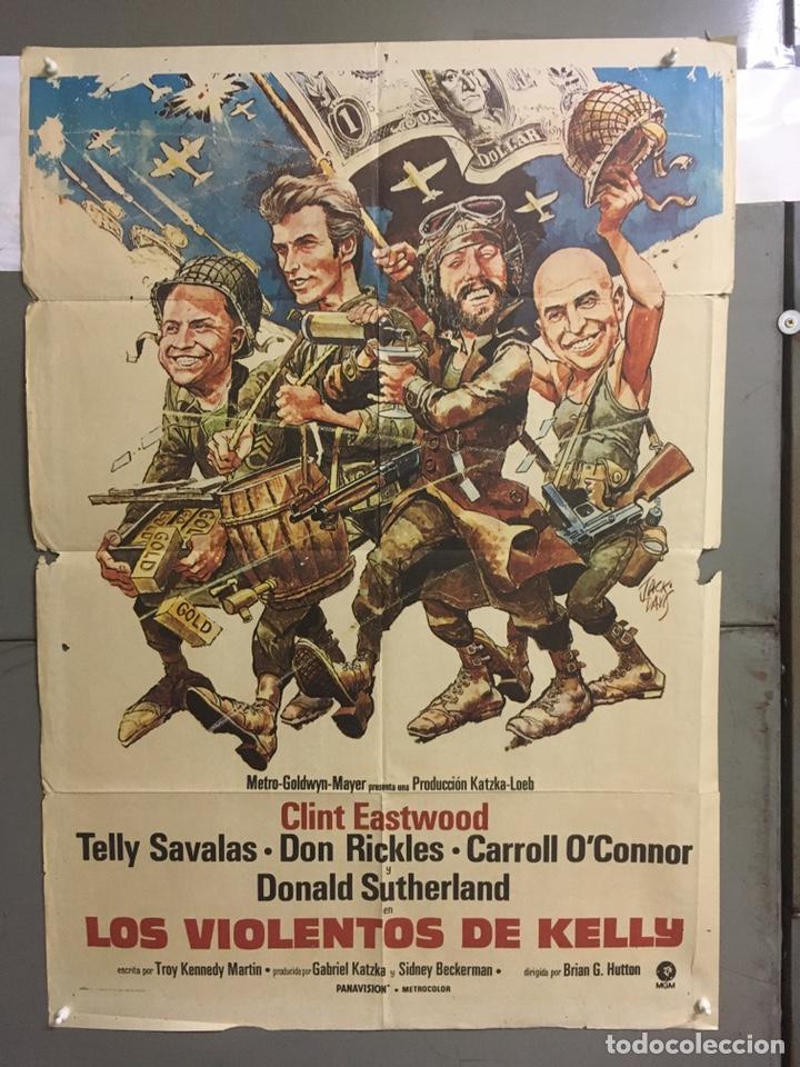AAB95 LOS VIOLENTOS DE KELLY CLINT EASTWOOD POSTER ORIGINAL 70X100 ESTRENO (Cine - Posters y Carteles - Bélicas)