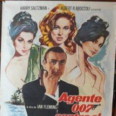 Cine: AGENTE 007 CONTRA EL DR NO. POSTER ORIGINAL 1974. Lote 195528273