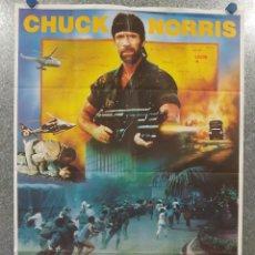 Cine: DESAPARECIDO EN COMBATE III. CHUCK NORRIS, AKI ALEONG. AÑO 1987. POSTER ORIGINAL. Lote 195867635