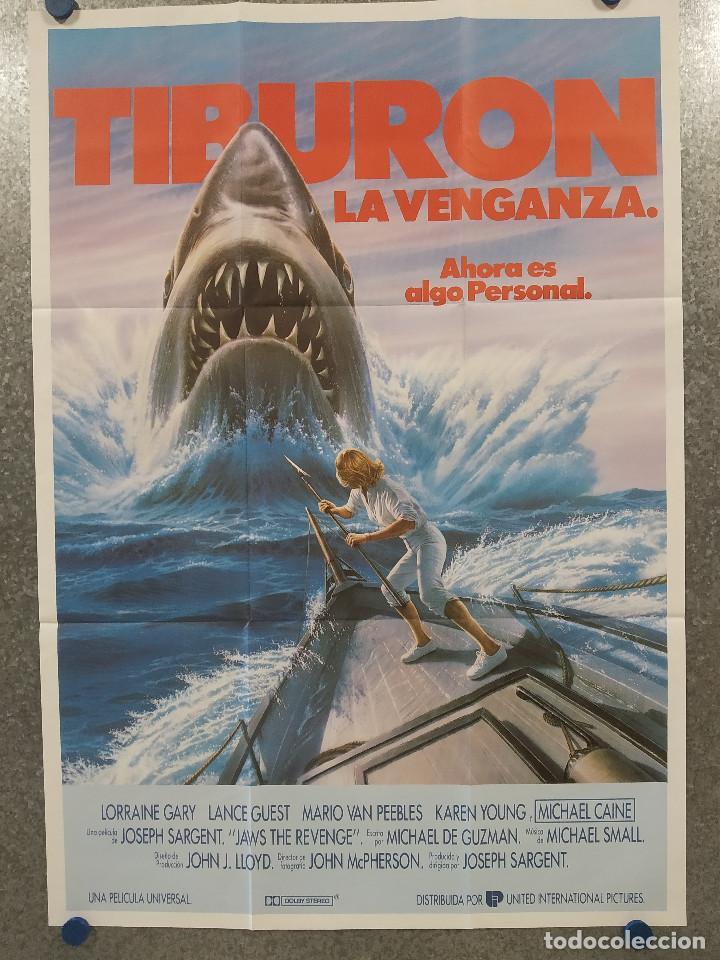 TIBURON LA VENGANZA 4 , LORRAINE GARY, LANCE GUEST. POSTER ORIGINAL (Cine - Posters y Carteles - Terror)
