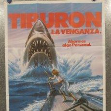 Cine: TIBURON LA VENGANZA 4 , LORRAINE GARY, LANCE GUEST. POSTER ORIGINAL. Lote 219366112