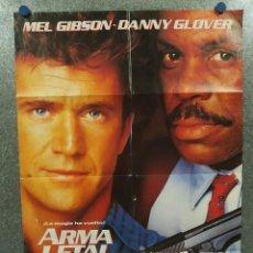 Cine: ARMA LETAL 2. MEL GIBSON, DANNY GLOVER. AÑO 1989. POSTER ORIGINAL . Lote 195882378