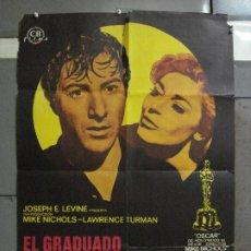 Cine: CDO 525 EL GRADUADO DUSTIN HOFFMAN ANNE BANCROFT POSTER ORIGINAL 70X100 ESTRENO. Lote 195883098
