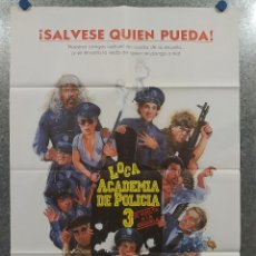 Cine: LOCA ACADEMIA DE POLICÍA 3. STEVE GUTTENBERG, BUBBA SMITH, MICHAEL WINSL. AÑO 1986 - POSTER ORIGINAL. Lote 195883321