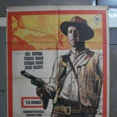 Cinéma: CDO 528 UN HOMBRE PAUL NEWMAN MAC POSTER ORIGINAL 70X100 ESTRENO. Lote 195887258