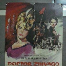 Cine: CDO 532 DOCTOR ZHIVAGO DAVID LEAN OMAR SHARIF JULIE CHRISTIE POSTER ORIGINAL 70X100 ESTRENO. Lote 195892495