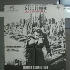 Cine: CDO 534 FRENCH CONNECTION CONTRA EL IMPERIO DE LA DROGA GENE HACKMAN POSTER ORIGINAL 70X100 ESTRENO. Lote 195892847