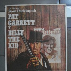 Cine: CDO 536 PAT GARRETT Y BILLY THE KID JAMES COBURN SAM PECKINPAH POSTER ORIGINAL 70X100 ESTRENO. Lote 195893582