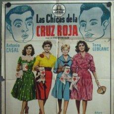 Cinema: VT41D LAS CHICAS DE LA CRUZ ROJA ZAMORA VELASCO TONY LEBLANC FUTBOL POSTER ORIGINAL 70X100 ESTRENO. Lote 196013485