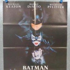 Cine: BATMAN VUELVE. MICHAEL KEATON, DANNY DEVITO, MICHELLE PFEIFFER. AÑO 1992. POSTER ORIGINAL. Lote 210815876