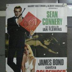 Cine: AAE95 JAMES BOND CONTRA GOLDFINGER 007 SEAN CONNERY POSTER ORIGINAL 70X100 ESPAÑOL R-75. Lote 196063687