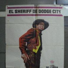 Cine: AAF08 EL SHERIFF DE DODGE CITY JOEL MCCREA JULIE ADAMS JANO POSTER ORIGINAL 70X100 ESTRENO. Lote 196090218