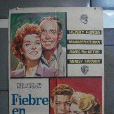 Cine: AAF09 FIEBRE EN LA SANGRE HENRY FONDA MAUREEN O'HARA JANO POSTER ORIGINAL 70X100 ESTRENO. Lote 196091108