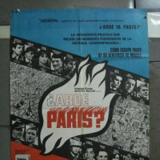 Cine: AAF13 ARDE PARIS BELMONDO DELON DOUGLAS POSTER ORIGINAL 70X100 ESTRENO. Lote 196092847