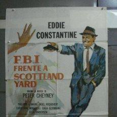 Cine: AAF14 FBI FRENTE A SCOTLAND YARD EDDIE CONSTANTINE POSTER ORIGINAL 70X100 ESTRENO. Lote 196093312